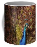 A Preening Peacock  Coffee Mug