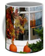 A Pretty Autumn Window Coffee Mug