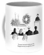 A Priest Makes A Eulogy Coffee Mug