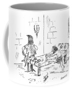 A Prisoner Is Seen Stretching On A Torture Rack Coffee Mug