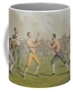 A Prize Fight Aquatinted By I Clark Coffee Mug by Henry Thomas Alken
