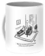 A Psychiatrist Speaks To A Man On The Sofa Coffee Mug