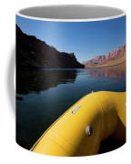 A Raft Floats Down A River Coffee Mug