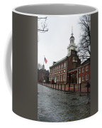A Rainy Day At Independence Hall Coffee Mug by Bill Cannon
