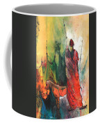 A Red Dog In Morocco Coffee Mug