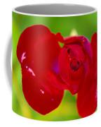 A Red Wet Rose Coffee Mug