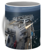 A Rim-7 Sea Sparrow Missile Is Launched Coffee Mug by Stocktrek Images