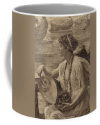 A Roman Boat Race Coffee Mug by English School