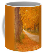 A Romantic Country Walk In The Fall Coffee Mug