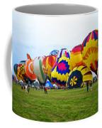 A Row Of Hot Air Balloons Left Side Coffee Mug