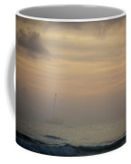 A Sailboat In The Morning Mist Coffee Mug