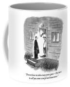 A Salesman Comes To The Door Of A Disgruntled Coffee Mug