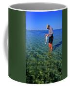 A Salt Water Fly Fisherman Catches Coffee Mug