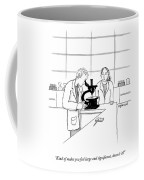 A Scientist Looking Into A Microscope Coffee Mug