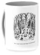 A Scout Leader Tells A Group Of Young Campers Coffee Mug