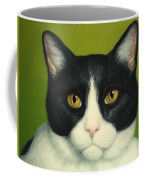 A Serious Cat Coffee Mug by James W Johnson