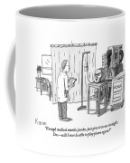A Severed Head Is Seen In A Hospital Talking Coffee Mug by Zachary Kanin