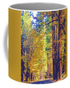 A Shady Drive Through Yosemite Coffee Mug