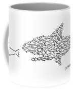 A Shark Is Chased By A School Of Fish That Coffee Mug