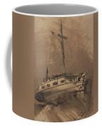 A Ship In Choppy Seas Coffee Mug
