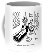 A Shrink Consults His Patient About What Seems Coffee Mug