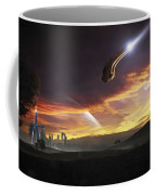 A Shuttle In The Process Of Landing Coffee Mug