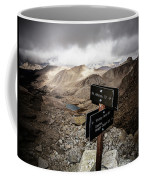 A Signed Trail Junction On The Way Coffee Mug