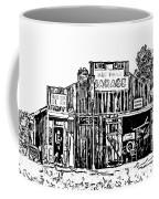 A Simpler Time Line Art Coffee Mug by Steve Harrington