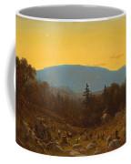 A Sketch Of Hunter Mountain. Catskills. Twilight On Hunter Mountain Coffee Mug