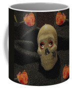 A Skull In The Dark Pop Art Coffee Mug