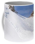 A Small Slab Avalanche With Two Guides Coffee Mug