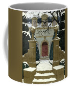 A Snow Covered Pathway Leading To A Mansion Coffee Mug