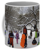 A Snow Day In The Park Coffee Mug