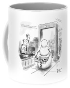 A Snowman Goes Through Airport Security Coffee Mug