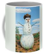 A Snowman In Texas Coffee Mug