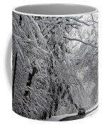 A Snowy Drive Through Chestnut Ridge Park Coffee Mug