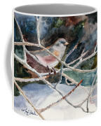 A Snowy Perch Coffee Mug