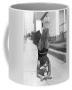 California Girl Imbibes Soda Upside Down Coffee Mug