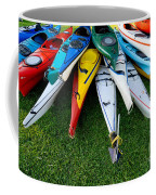 A Stack Of Kayaks Coffee Mug