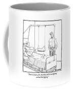 A Standing Man Talks To A Man Lying In A Hospital Coffee Mug