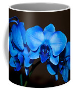 A Stem Of Beautiful Blue Orchids Coffee Mug