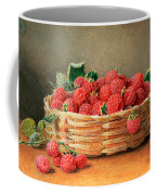 A Still Life Of Raspberries In A Wicker Basket  Coffee Mug