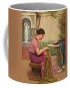 A Stitch Is Free Or A Stitch In Time 1917 Coffee Mug by John William Godward