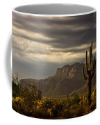 A Stormy Evening In The Superstitions  Coffee Mug