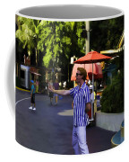 A Street Entertainer In The Hollywood Section Of Universal Studios Coffee Mug