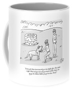 A Stylish Woman By A Well Gives Instructions Coffee Mug