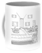 A Suburban Lemonade Stand Attracts No Business Coffee Mug