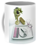 A Summer Table Setting On A Tray Coffee Mug
