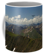 A Summit View Panorama With Peak Labels Coffee Mug