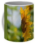 A Sunflower Profile Coffee Mug